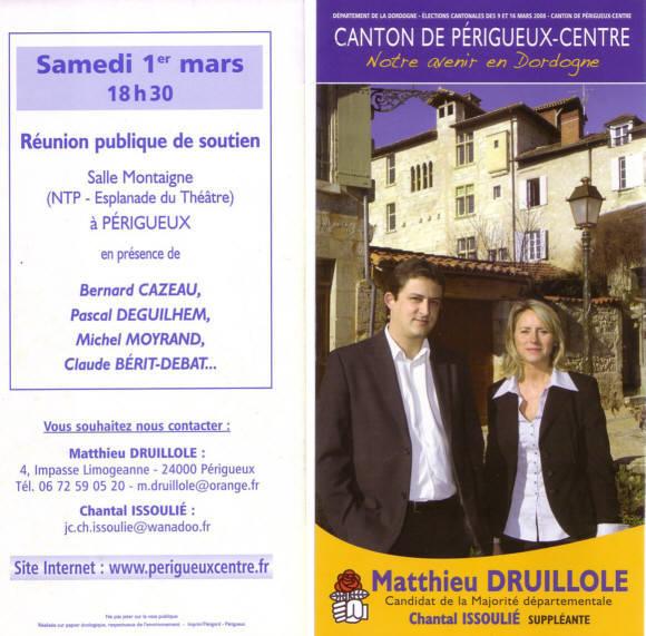 1er Mars 2008, Meeting avec Matthieu et Chantal ! dans Cantonales 2008 01032008