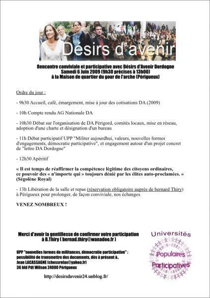 6 Juin à Périgueux...Réunion DA ! Venez nombreux ! dans DA Dordogne